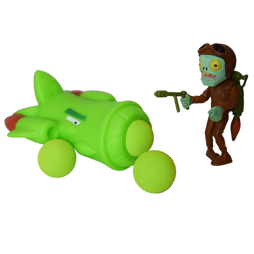 Party PVZ Plant Asparagus Fighter Plane Ball Popper Zombie Action Figure Toy