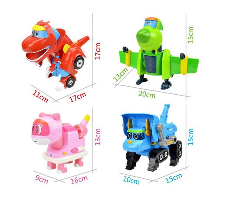 New Cartoon Characters Robot Dinosaur Rescue gogo dino mini transformer Little Ping
