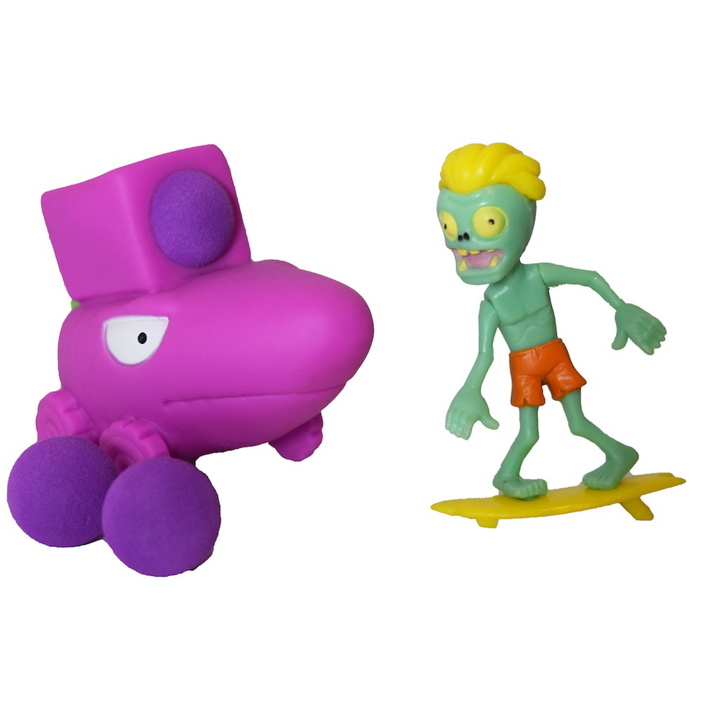 Party PVZ Plant Carrot Missle Truck Ball Popper Zombie Action Figure Toy