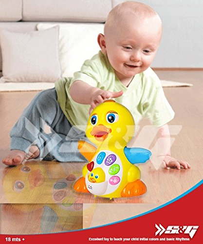 ~QUALITY GUARANTEE~ S&G Pro Fun Musical Duck with Sound Variations, Lights and Action