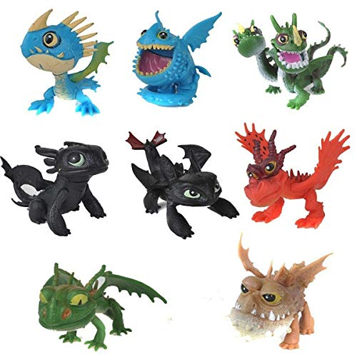 Cute 8PCS How to Train Your Dragon Dinosaur Model Action Figures Children Toys