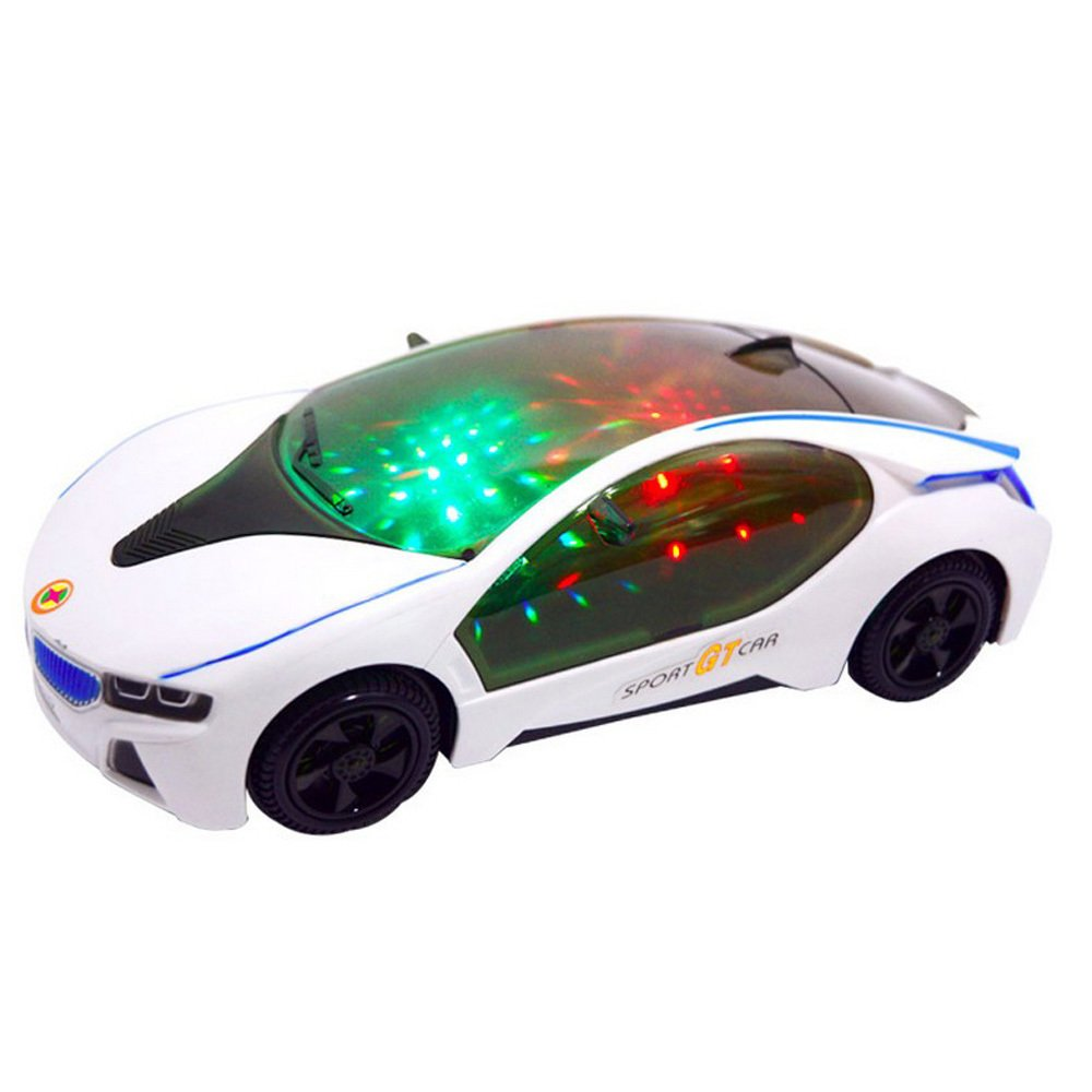 Popular 3D Light Model Car Electric Car Toy,High Quatily Automatic Steering Music toys Cars for Baby Best Gift