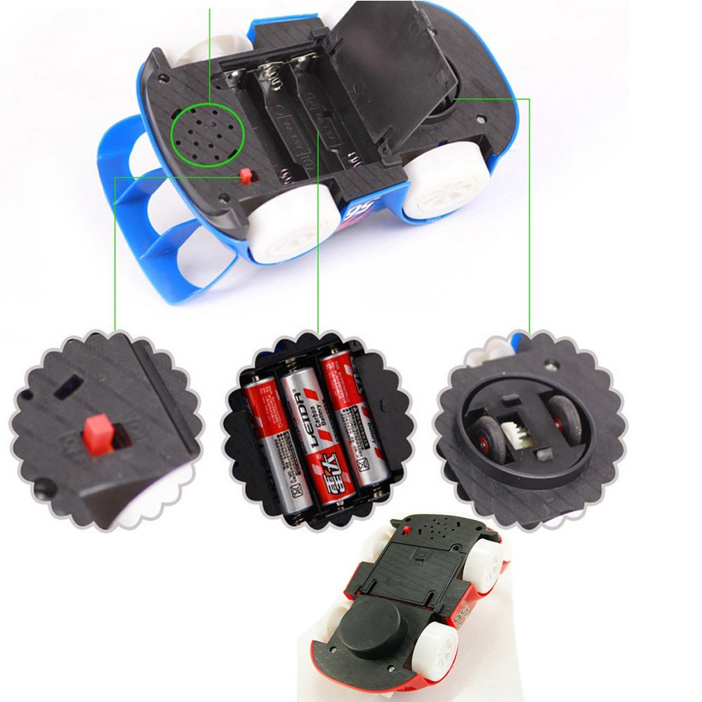 New Fashion Flash Light Music Racing for Child Gift,Automatic Steering Electric Car Toy