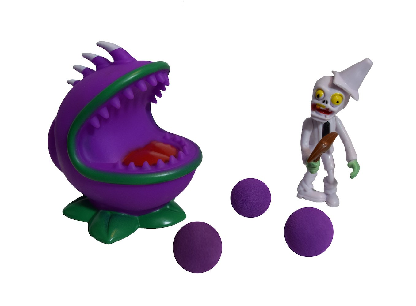 Party PVZ Plant Chomper Ball Popper Zombie Action Figure Toy