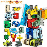 15pcs Creative Assembling Educational Action Figures Transformers Number Robot Deform Plane Car Birthday Kids Gift Toys: Toys & Games
