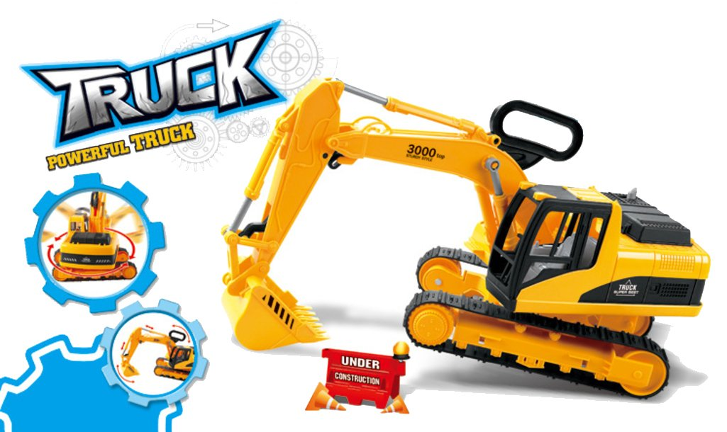 Oversized Construction Excavator Truck Toy for Kids with Shovel Arm Claw