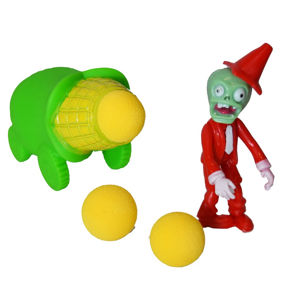 Horizon Party PVZ Plant Corn Cob Cannon Ball Popper Zombie Action Figure Toy