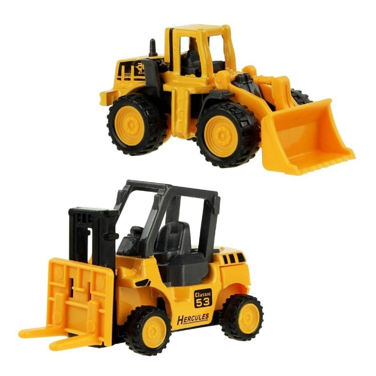 8 Types Diecast Mini Alloy Construction Vehicle Engineering Car Dump-car Dump Truck Model Classic Toy (Pack of 8)