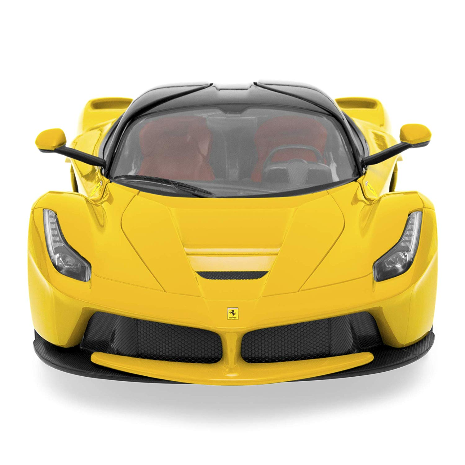 27 MHz 1/14 Scale Kids Licensed Ferrari Model Remote Control Play Toy Car w/ Functioning Headlights, Taillights, Doors, 5.1 MPH Max Speed