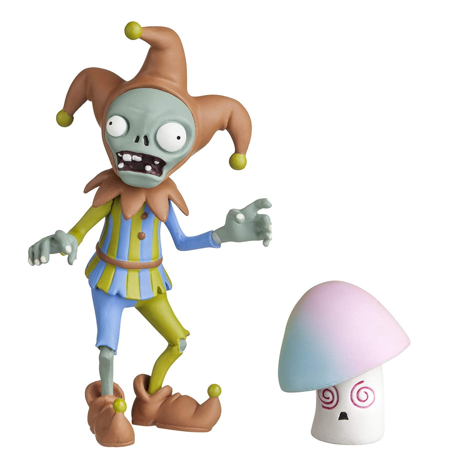 "Plants vs Zombies 3"" Jester Zombie with Hypnoshroom Action Figure"