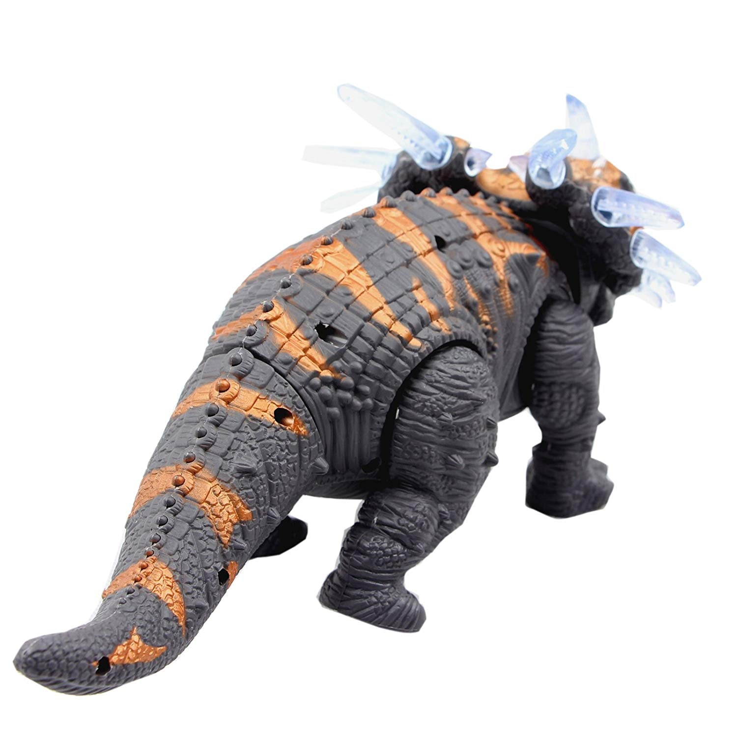 Electronic Toys Brown Walking Triceratops Dinosaur