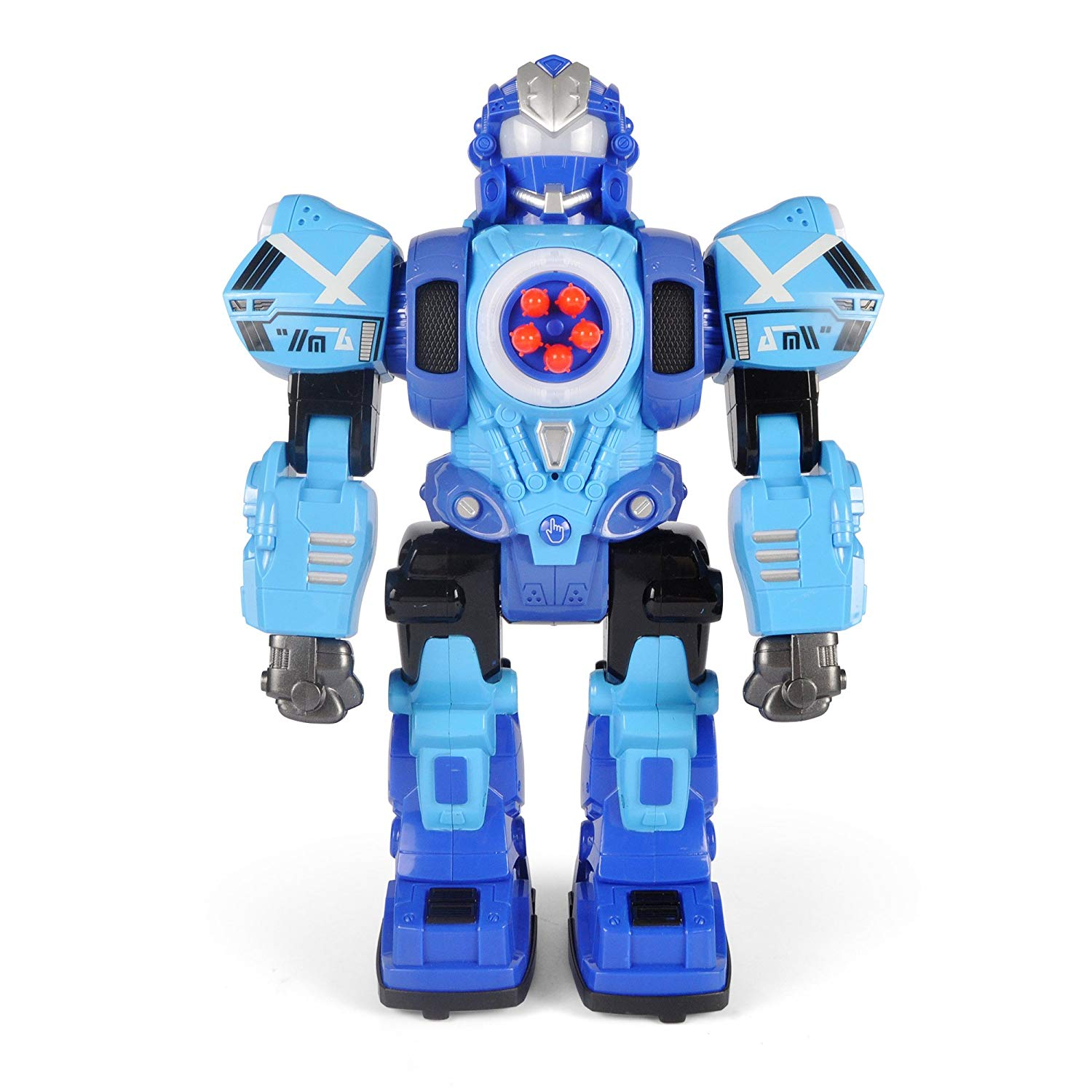 Large Remote Control Robot Toy for Kids - RC Robot Shoots Darts, Walks, Talks, and Dances (10 Functions)