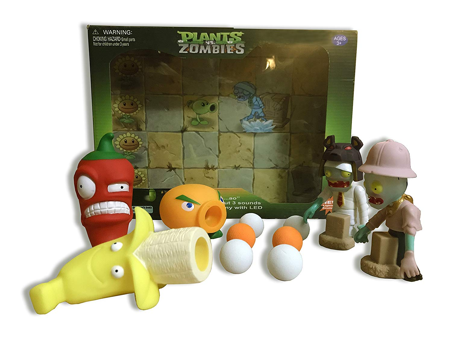 Plants Vs Zombies Gift Box: Banana Launch, Citron, and Jalapeno