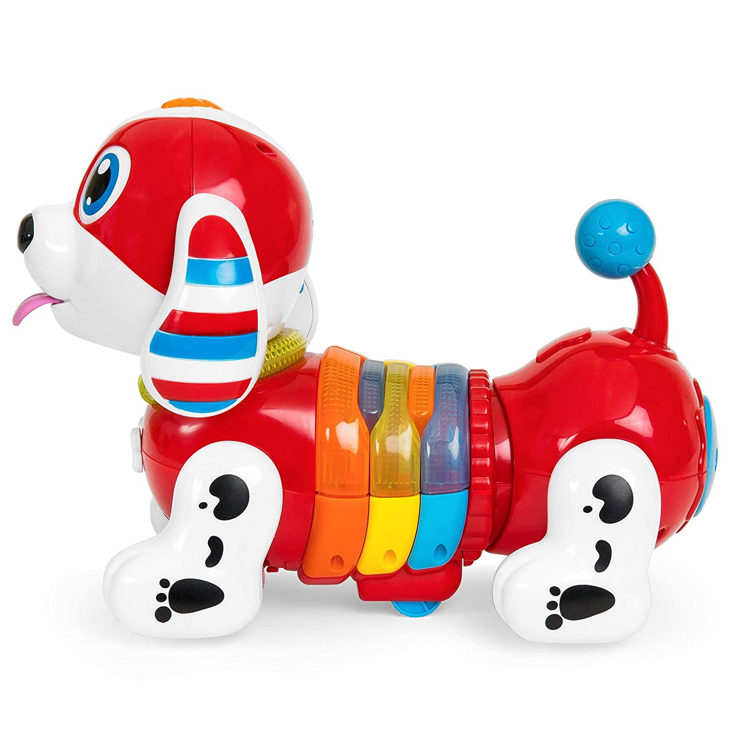 Kids Interactive Dancing RC Robotic Toy Dog w/ Music, Lights, Catchphrases, Touch Responsive