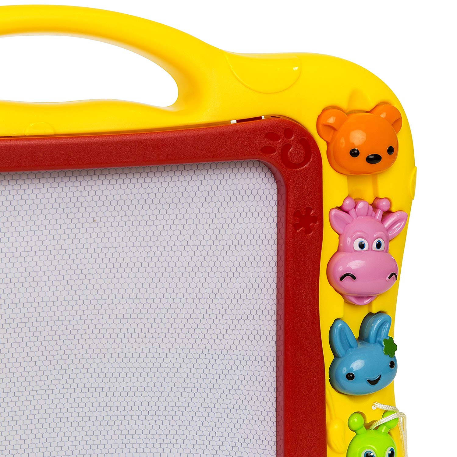 Magnetic Colorful Writing Board w/ Pencil, Eraser, and Learn-Along Buttons & Speakers - Yellow