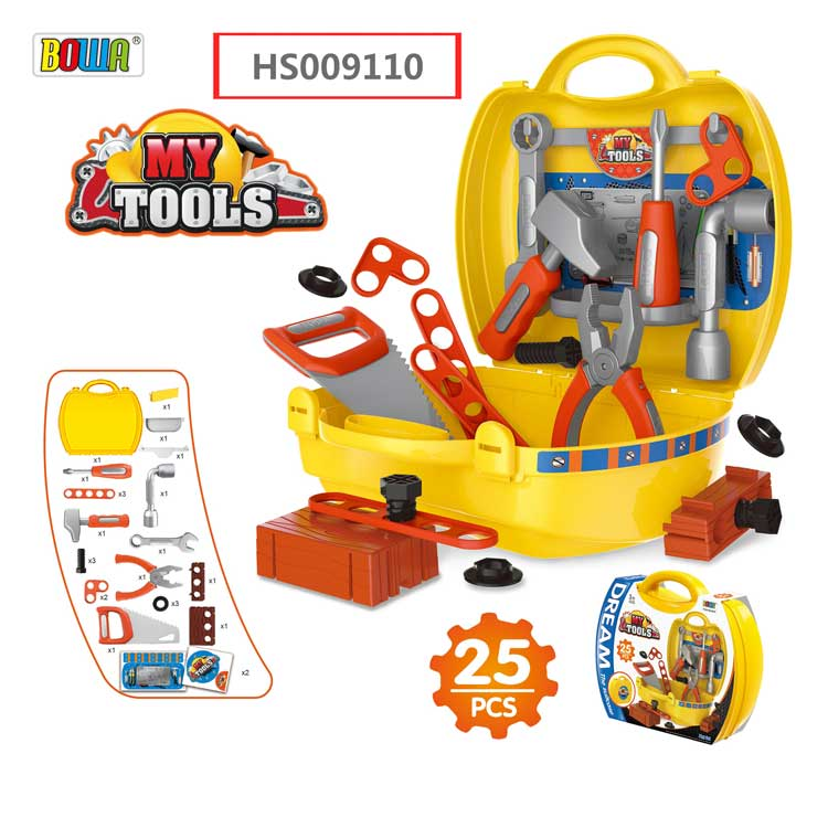 HS009110, Yawltoys, Tools Suitcase, Kids play set, Educational toy