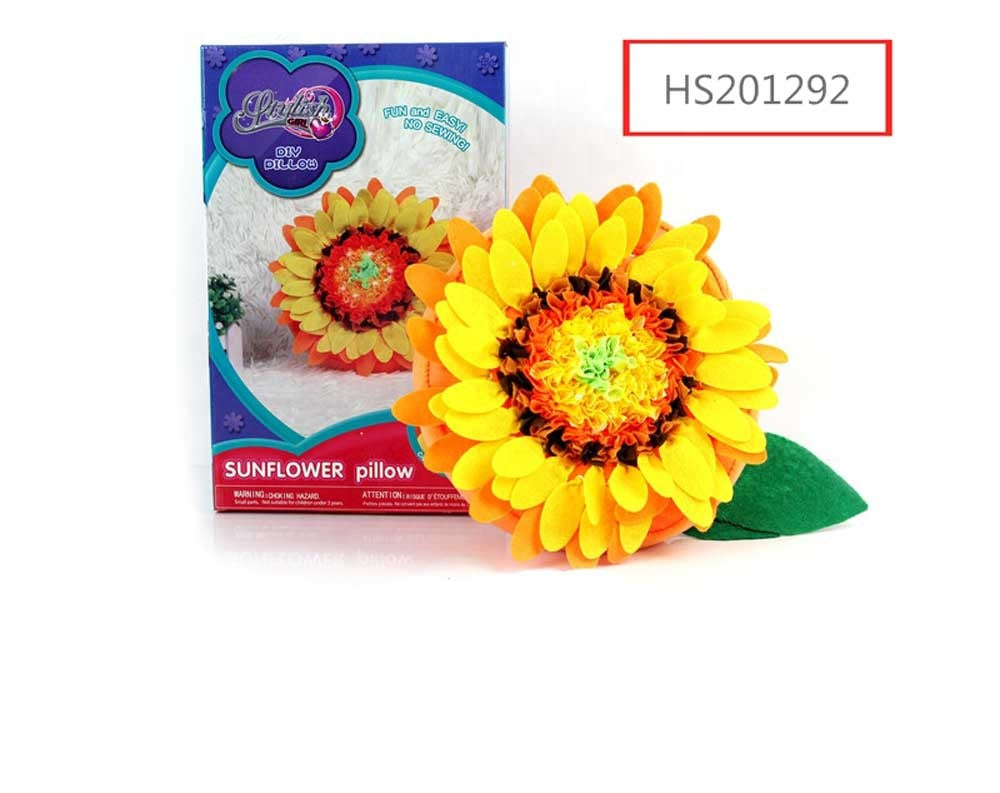 HS201290, HUWSIN toy, DIY Sunflower pillow DIY toy