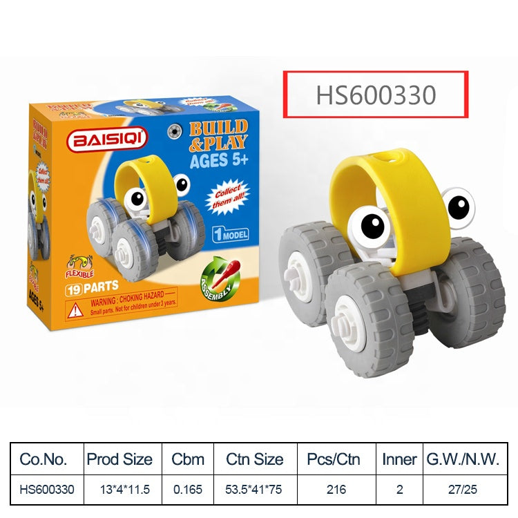 HS600330, Yawltoys, Colorful car building block DIY toy for kids