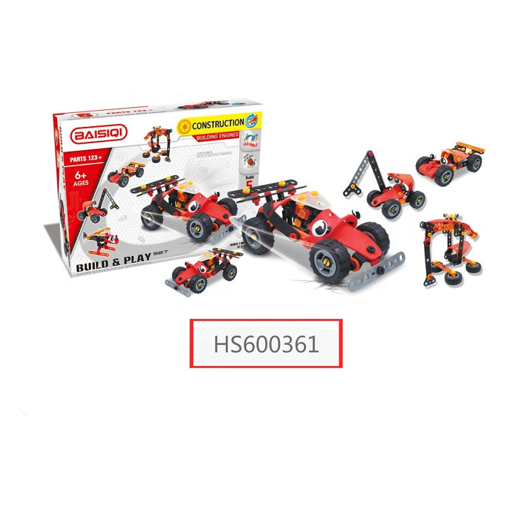 HS600361, Yawltoys, Educational toys learning diy assemble toy building block car toys