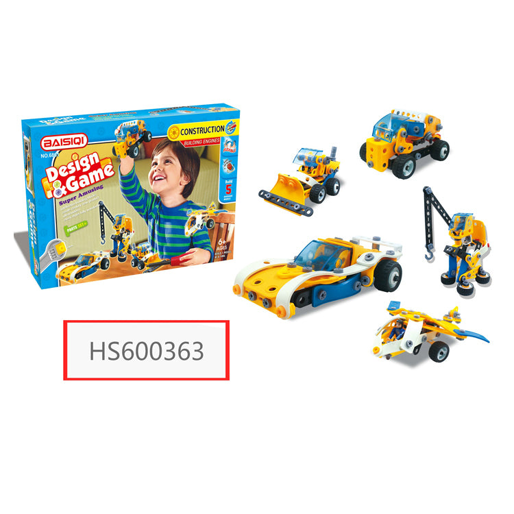 HS600363, HUWSIN toy, New Design Car & Building DIY block for kids
