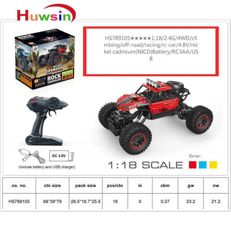 HS789105, Yawltoys, Rock crawler,1:18 RC Car
