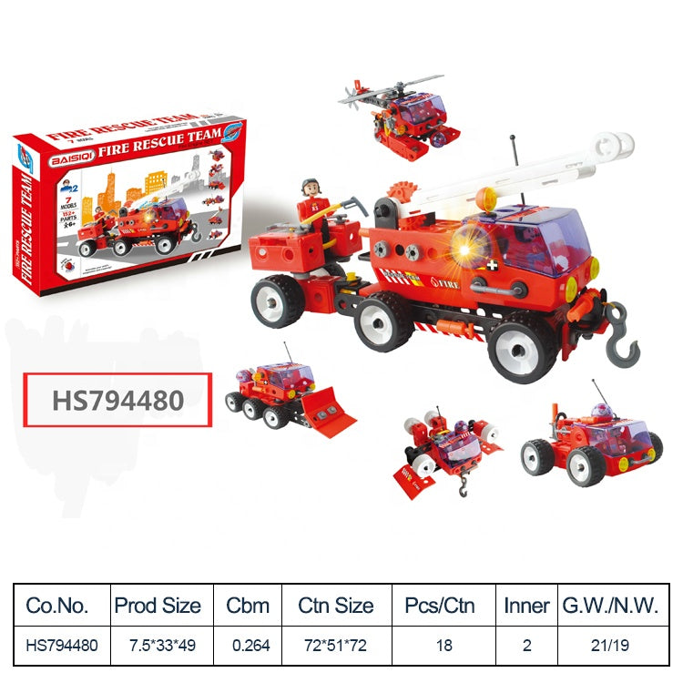 HS794480, Yawltoys, Cheap Price DIY Kid Car Building Toy Sets for kids
