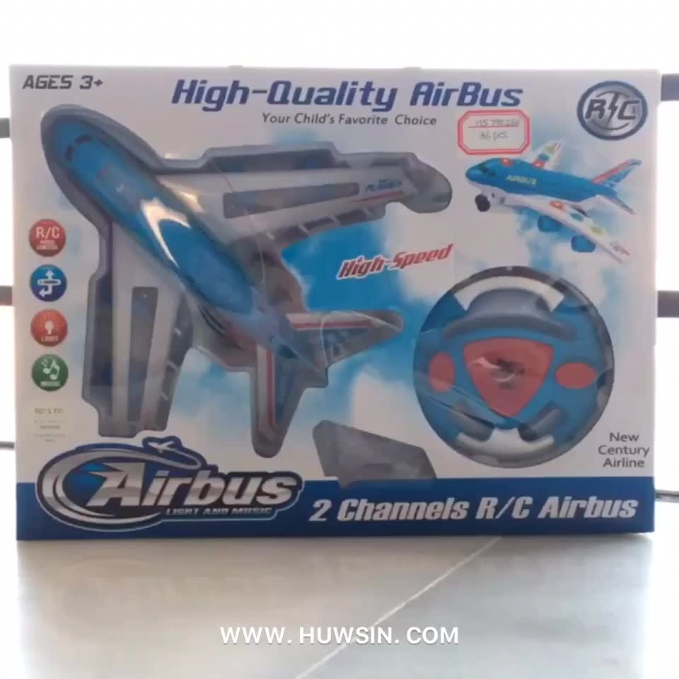 2ch light music rc airbus, Yawltoys