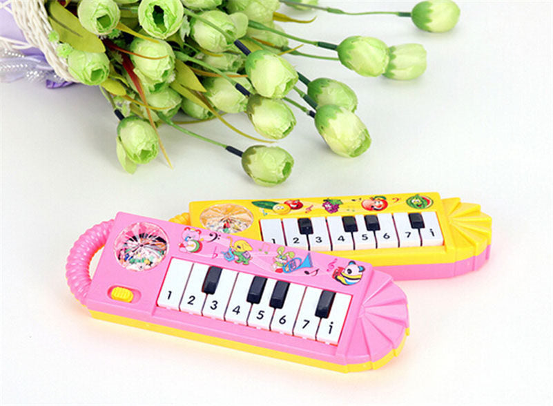 1Pc Mini Baby Playing Keyboard Baby Kids Piano Music Developmental Educational Cartoon Cute Toy 2016 New Arrival New