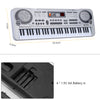 "61 Keys Electronic Keyboard Piano LED Music Toy with Microphone 21"" Educational Electone Christmas Gift for Children EU Plug"