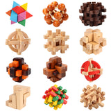 Kong Ming Luban Lock Chinese Traditional Toy Unique 3D Wooden Puzzles Classical Intellectual Wooden Cube Educational Toy gift