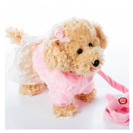 Electric leash dog  Miss Teddy  Plush Toys Music machinery remote control Leash  dog electronic toys  For girls free shipping