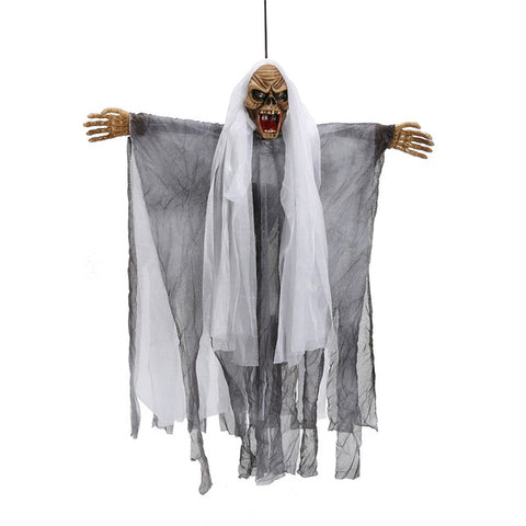 Halloween Voice Control Halloween Door Decoration  Gags & Practical Jokes ToysHanging Ghost Creepy Haunted House Props Toys