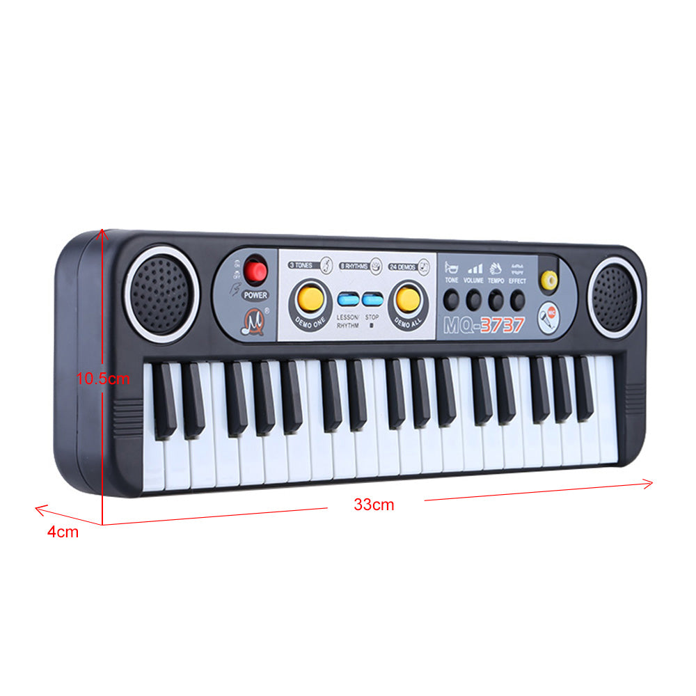 37 Keys Multifunctional Mini Electronic Keyboard Piano Music Toy with Microphone Educational Electone Gift for Children Babies