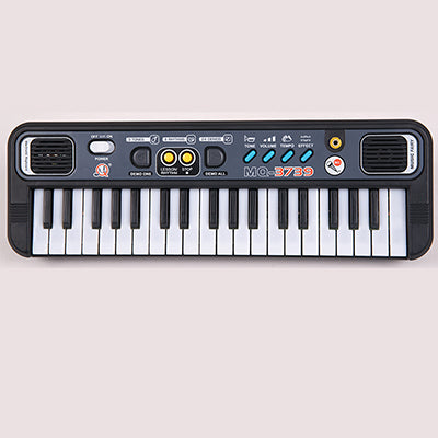 Mini 37 Keys Electone Keyboard For Children Learning & Exercising Type Portable Electronic Piano with Microphone Toy Musical