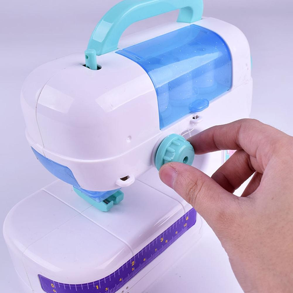LeadingStar New simulation of electric doll clothes sewing machine small household appliances children playing home toys