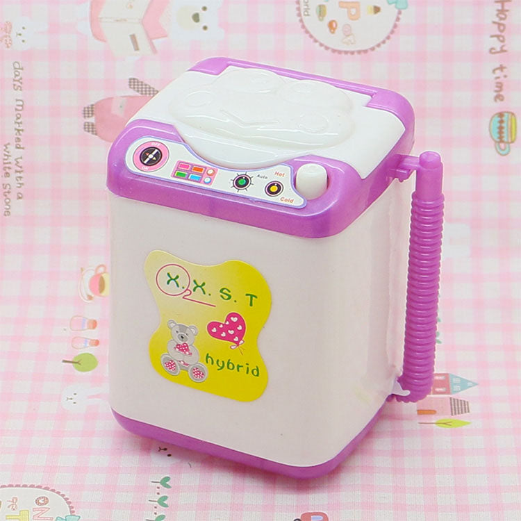 1:6 Scale wash washing machine Dollhouse Miniature Toy Doll Food Kitchen living room Accessories