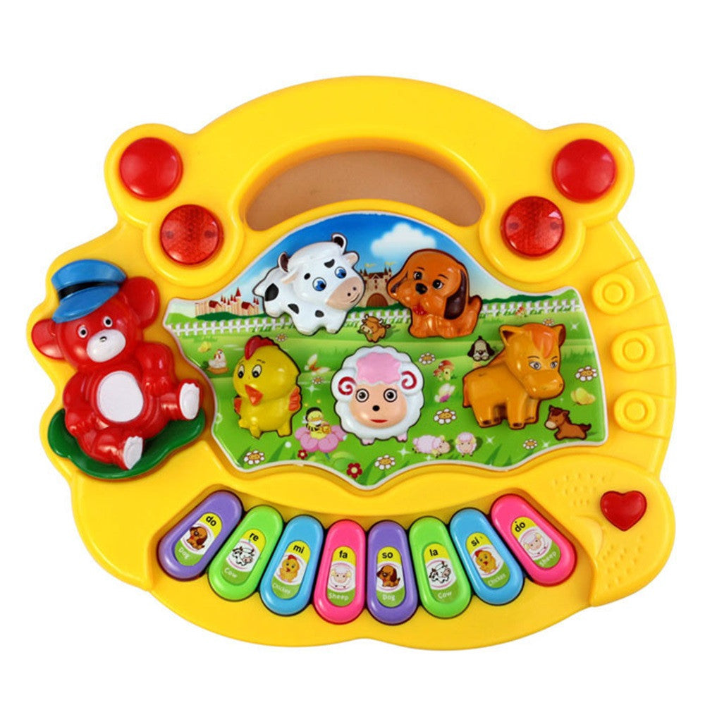 2018 Music Songs New Useful Popular Baby Kid Animal Farm Piano Music Toy Developmental Brinquedo Educativo Lowest Prcie Toy Gift
