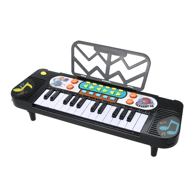 Electronic Piano Keyboard Toy Educational Kids Musical Instrument 11 Playing Mode Music Piano with Adjustable Volume Rhythm