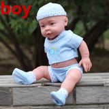 41CM Baby Kids Reborn Baby Doll Soft Vinyl Silicone Lifelike Sound Laugh Cry Newborn Baby Toy for Boys Girls Birthday Gift