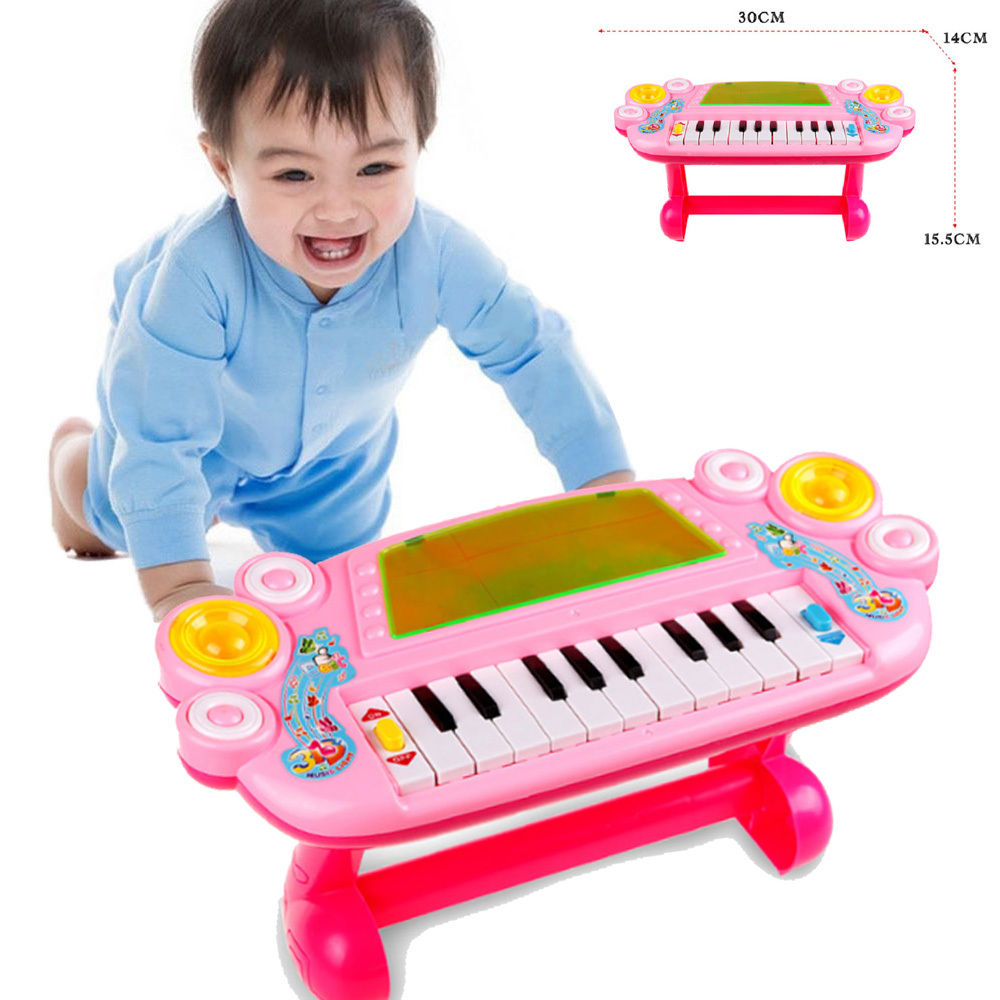 JIMITU Baby Mini Cute Piano Music Toy Kids Musical Educational Piano Cartoon Animal Farm Developmental Toys for Children Gift