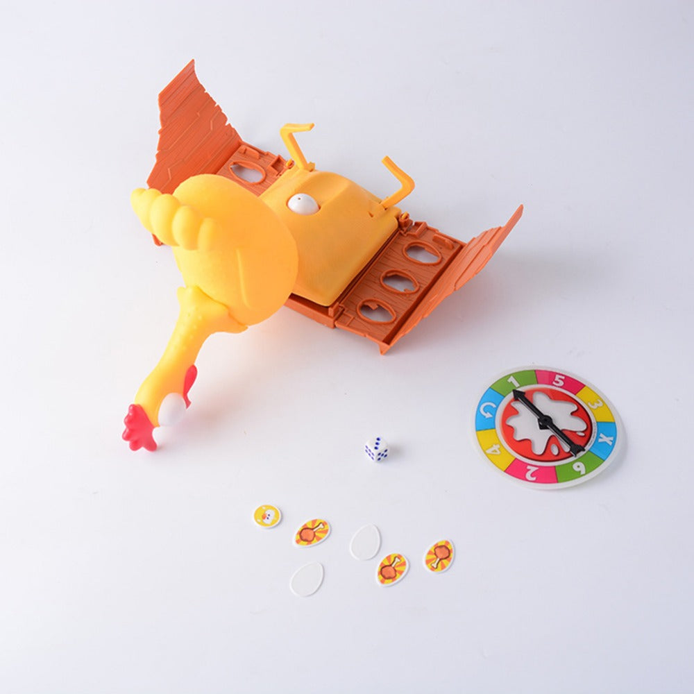 Funny Gags Game Toys Chicken Laying Egg Game Turntable Lucky Chicken Screaming Hen Toy Family Friends Interactive Desktop Game