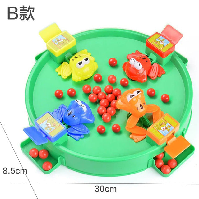Vibrato with the same paragraph frog to eat beans toys large double parent-child desktop children's puzzle more than greedy
