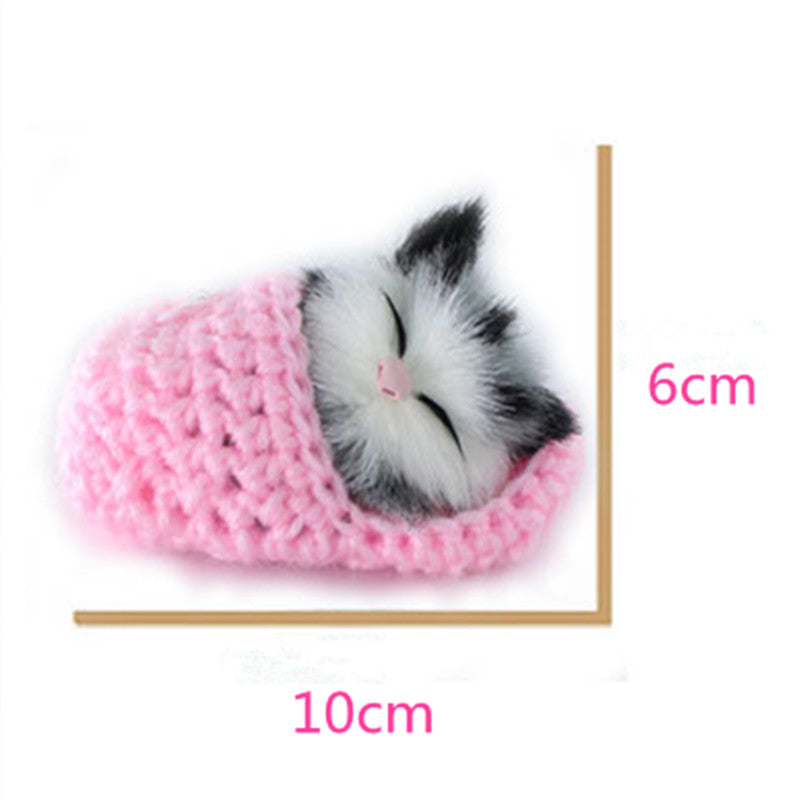 10cm baby boy girls toys Super Cute Simulation Sounding Shoe Kittens Cats Plush Toys decoration Kids Appease Doll birthday gift