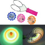 New Magnetic Gyro Wheel Magic Spinning Top Laser Led Gyro Colorful Light Toy Children Light-Up Toys Gift