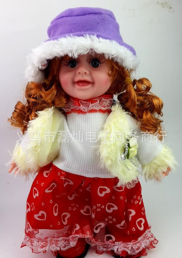 LE electronic Toys,Pretty girl model can dance/sing 17*10*33cm, 3 AA batteries operated lifelike baby,Baby doll reborn