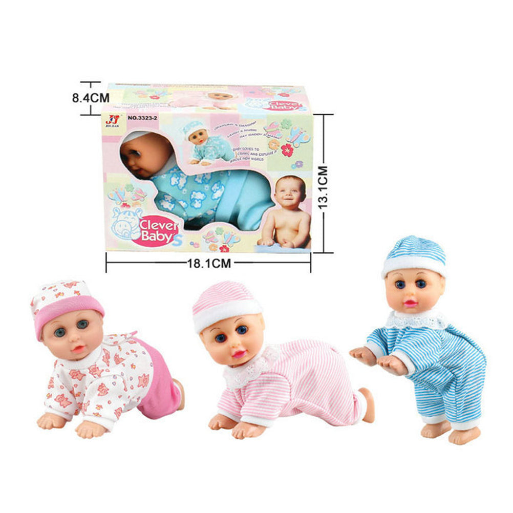 Early Learning Toy Lovely Baby Infant Electric Music Crawling Baby Talking Singing Dancing Doll Say Mama Daddy laugh Crawl Doll