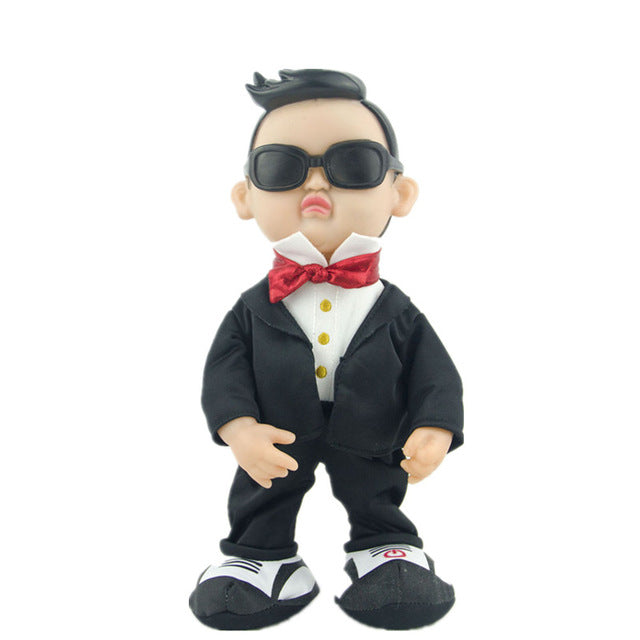 Electric plush toys for children Plush doll simulation Gangnam Style PSY creative funny toy Dancing singing dolls birthday gift
