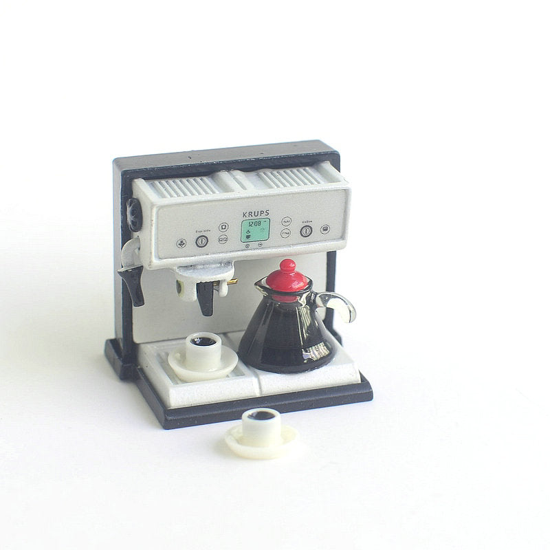 wholesale 1:12 dollhouse miniature Mini Coffee machine doll accessories furniture toy match sylvanian families collectible Gift