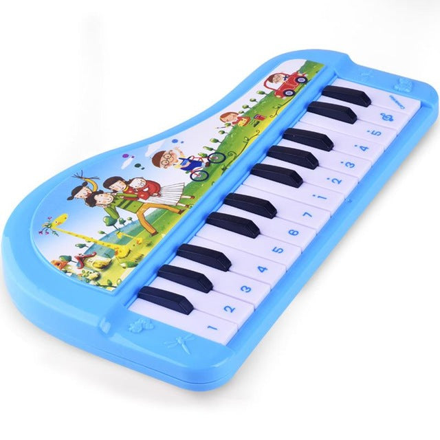 Children Cartoon 24 Key Music Electronic Piano Keyboard Education Toys Electric Simulation Piano Toys Wholesale Free Shopping