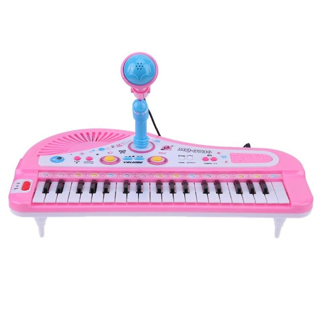 Multifunction Electronic Piano with Mic Toy Gifts Music Education Keyboard for Children Musical Instrument Learning Toy Gifts